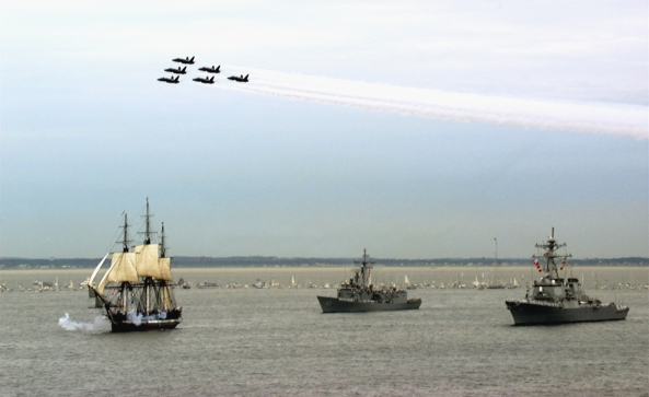 USS CONSTITUTION UNDERWAY FOR THE 1ST TIME IN 116 YEARS